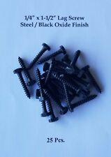 14 X 1 12 Steel Lag Screwsbolts Black Oxide Finish 25pcs Free Shipping