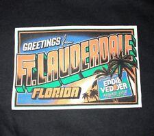 EDDIE VEDDER - Ft Lauderdale FL T-Shirt Size XL - Nov 30 Dec 1 2012 pearl jam