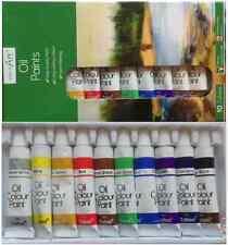 New 10 x 6ml Tube Pack Oil Colour Art Crafts Paint Set oil Craft Artist Paints