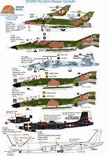 Wolfpak Decals 72-099 Grim Reaper hará Sabre Phantom Boeing E-6 Talon invasor