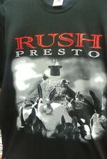 """Rush """" Presto """" black t shirt in size Large.   100 % official."""
