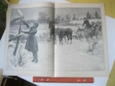 Vintage Print,LOST THEIR WAY,AB.Frost,Harpers,Dec 1887