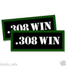 """308 WIN Ammo Can 2x Labels Ammunition Case 3""""x1.15"""" stickers decals 2 pack"""