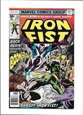 """IRON FIST #13 [1977 FN+] """"TARGET: IRON FIST!"""""""
