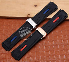 27mm*19mm Rubber Diver Watch Strap Silicone Band for HUBLOT KING POWER Series