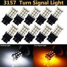 10x T25 3157 60SMD LED Auto Brake Bulb Turn Signal Switch Light Lamp Amber White