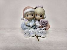 Precious Moments Icy Good Times A-Head Niña Porcelana Ornamento Navidad ch80