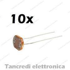 10X fotoresistenza 5mm LDR 5528 fotocellula photoresistor (Arduino-Compatibile)