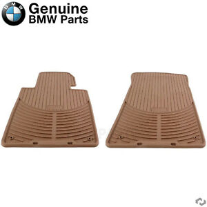 For BMW E46 323Ci 330Ci M3 Front Rubber Floor Mats Beige Genuine