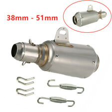 Motorcycle Bike Titanium Stainless Steel 51mm Escape Exhaust Mufflers Pipe NEW