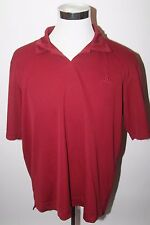 Nice! ADIDAS Clima365 Mens Size XL Short Sleeve V Neck Polo Shirt Red Maroon