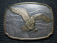 HISTORICAL PROVIDENCE MINT STERLING SILVER BALD EAGLE BELT BUCKLE! VINTAGE! 128g
