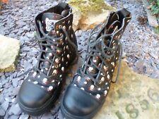 T.U.K. Classic Rare Skull  Size 6 UK Eye & Zip Combat Sneaker Boots