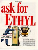 1946 ORIGINAL VINTAGE ETHYL GASOLINE MAGAZINE AD