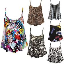 Women's Floral Strappy, Spaghetti Strap Casual Hip Length Tops & Shirts