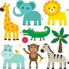 Animals Bedroom wall stickers Vinyl Graphics Baby Nursery Childrens Window large