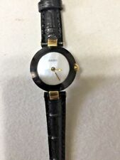 Sale Rare RADO La Coupole Mother of Pearl w/Black Leather Bands Womens Watch