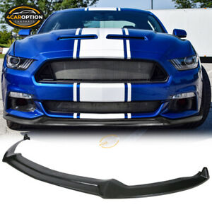 Fits 15-17 Ford Mustang Shelby Style Front Bumper Lip PU