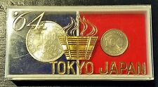 1964 Japan Olympic Silver Coin Set 1000 and 100 Yen Unusual Commemorative Case