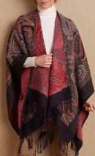 Soft Surroundings Jacquard Print Tunic Wrap Poncho Topper O/S L,XL,1X,2X NEW!!