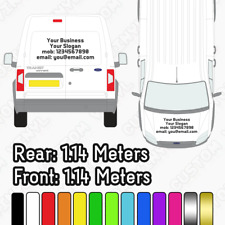 Custom Small Van Stickers, Sign Writing Vehicle Lettering, Multi Colours Availab