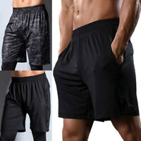 Men's Training Shorts Fitness Training Athletic Short Pants Beach Shorts