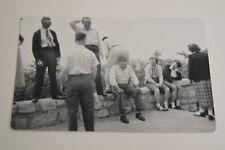 Vintage Funny Man Butt MOONING Friend Joke Black & White Photo Photograph