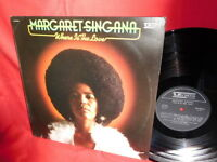 MARGARET SINGANA Where is the love LP 1977 ITALY MINT- Soul Funk VEDETTE label