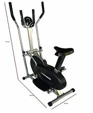 Elliptical Bike 2 in 1 Cross Trainer with Pulse Exercise Fitness Bicycle w LCD