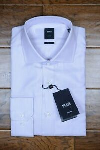 Hugo Boss $245 Tailored Men's Stenson Regular Fit Cotton Dress Shirt 41 16