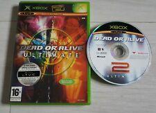 Jeu Xbox 1ere génération Dead or alive Ultimate 2 pal notice