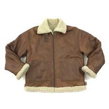 VINTAGE Wilsons Leather Bomber Jacket Shearling Sherpa Aviator REVERSIBLE Size M
