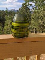 Collectible Heavy Studio Art Glass Hand Blown Vase
