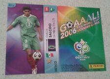 FIFA 2006 World Cup Mexico CARLOS SALCIDO Panini Trading Card