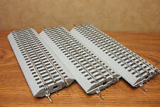 "LIONEL TRAINS FASTRACK 10"" STRAIGHT TRACK - 6 PIECES O GAUGE"