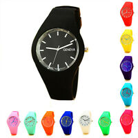 Fashion Womens Leisure Sports Silicone Strap Candy-colored Jelly Quartz Watch