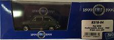 """DIE CAST BRUMM """"FIAT 600D CONVERTIBLE CHIGUSA 1960 DARK GREY 654 R318-04 1/43"""