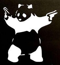 GUN PANDA BEAR DECAL STICKER CAR TRUCK SUV TEDDY CHEVY FORD HONDA VW DODGE JDM