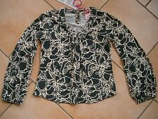 (297) Nolita Pocket Girls Shirt Bluse Tunika + Logo Druck & Ballon Ärmeln gr.110