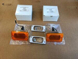 Ford Escort mk1 Front Indicator Units  Orange lens ,all new parts      pair.