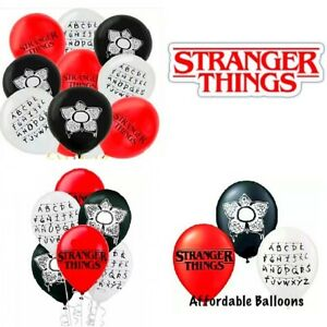 Stranger Things Latex Balloons Set Of 10. Stranger Things Party Decorations