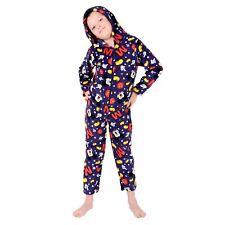 Disney Mickey Mouse All In One Pyjamas Boys Hooded Fleece Sleepsuit Ages 2-7
