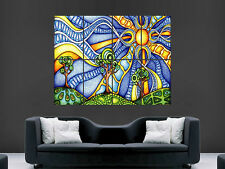 TRIPPY PSYCHEDELIC  ART WALL HUGE  LARGE IMAGE GIANT POSTER