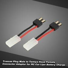 2Pcs Traxxas Plug Male to Tamiya Head Female Connector for RC Car Battery Charge