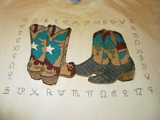 Vintage Cowboy Boots Shirt ( Used Size L ) Nice Condition!