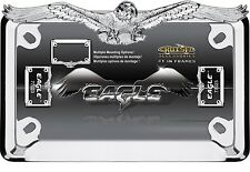 EAGLE HAWK MOTORCYCLE CHROME LICENSE PLATE FRAME HARLEY DAVIDSON HONDA & YAMAHA