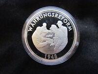 Medaille Deutschland Währungsreform Silber 999 PP Gedenkprägung