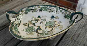 Masons  Green Chartreuse Griffin Serving Dish