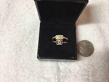 "RARE Chanel ""cc"" and handbag charm rings size 6.5 US SELLER"