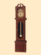 Dollhouse Miniatures 1:24 Grandfather Clock-  Artist Made Furniture